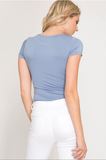 Delilah Fitted Tee - Multiple Colors