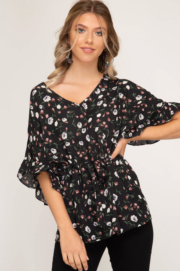 Crystal Floral Tunic