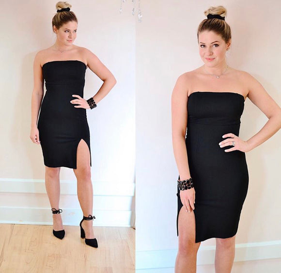 Posh Strapless Bodycon Dress