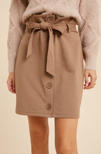 Dawson Buttoned Paperbag Skirt