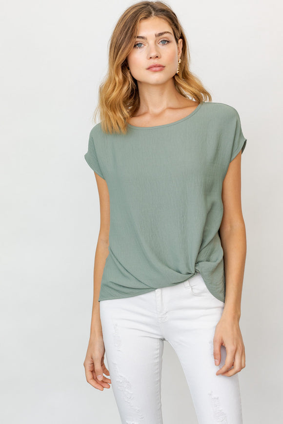 Faye Twist Front Top - More Colors - Plus Avail.