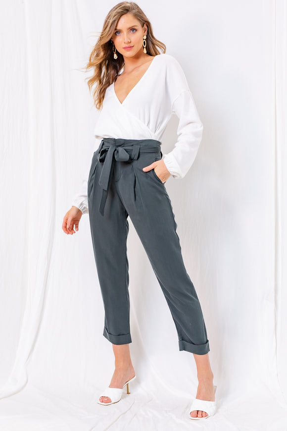 Parker Paperbag Waist Pant - More Colors