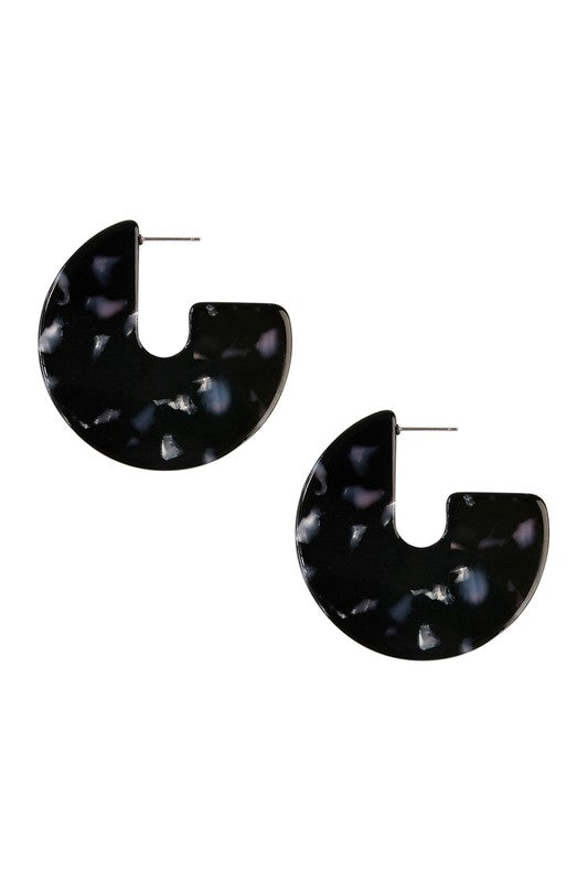 Carina Tortoise 3/4 Hoop Earring - More Colors