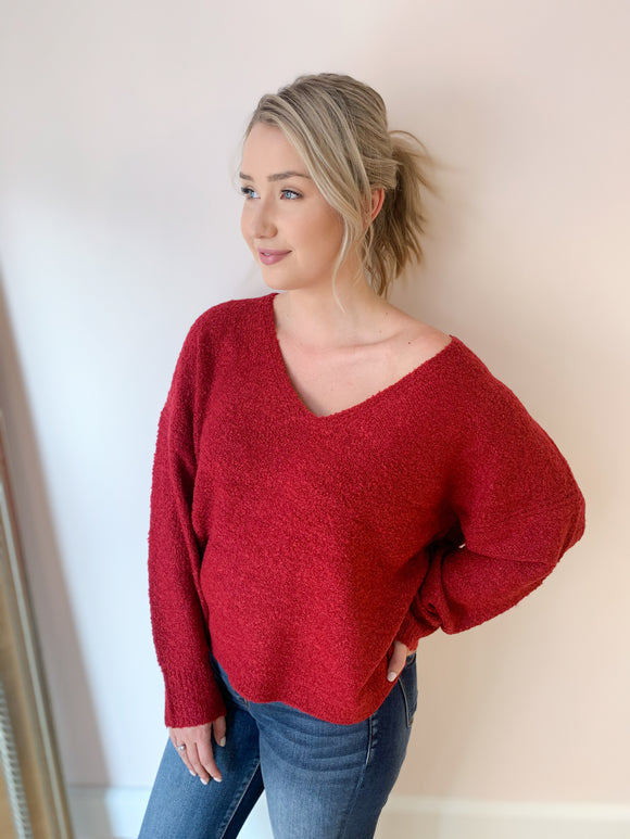 Brandy Super Soft V Neck Sweater - More Colors