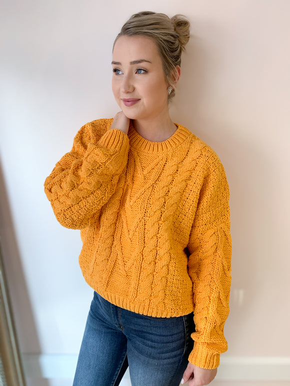 Amy Cable Knit Chenille Sweater