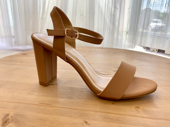 Evelyn Taupe Heels