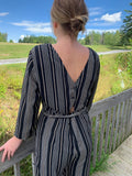 Corinne Striped Jumpsuit