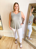 Eleanor V Neck Woven Top-Plus Size
