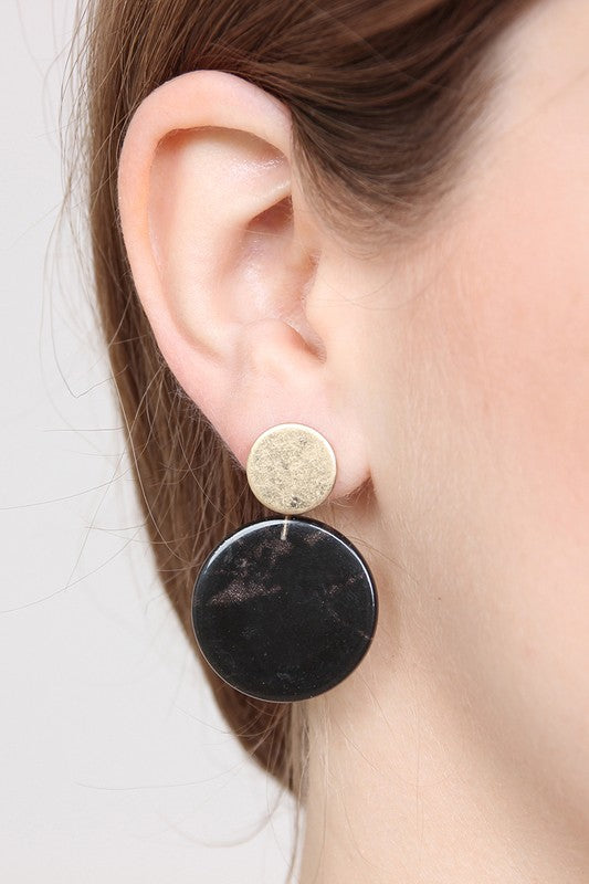 Lilith Duo Circle Post Earrings