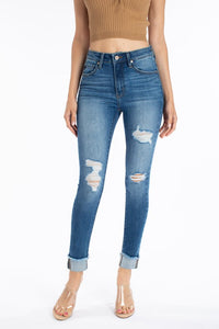 Jay High Rise Distressed Skinny Jean - KanCan