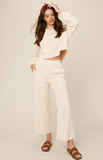 Luna Knit Top and Wide Leg Lounge Set - More Colors