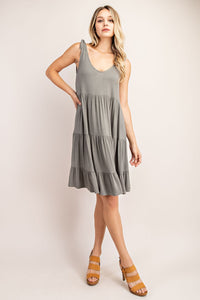 Matilda Tiered Dress With Tie Straps