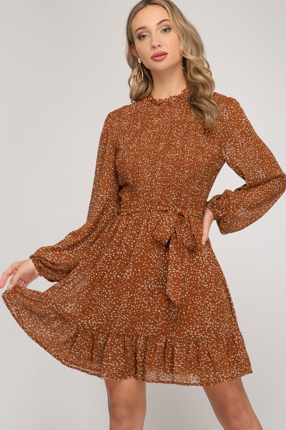 Meredith Chiffon Print Dress