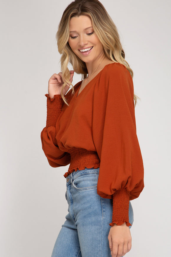 Rita Smocked Crop Top - More Colors
