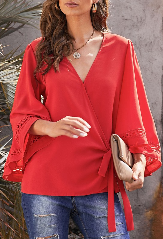 Rosalie Flared Sleeve Blouse