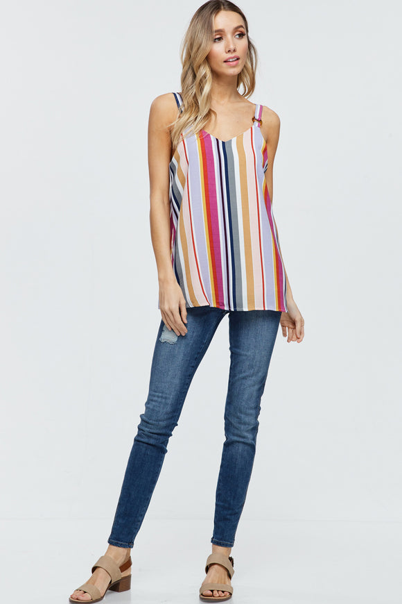 Laiken Multi Color Stripe Tank Top
