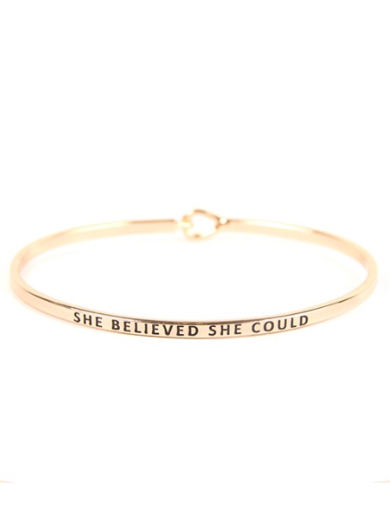 She Believed Cuff Bracelet