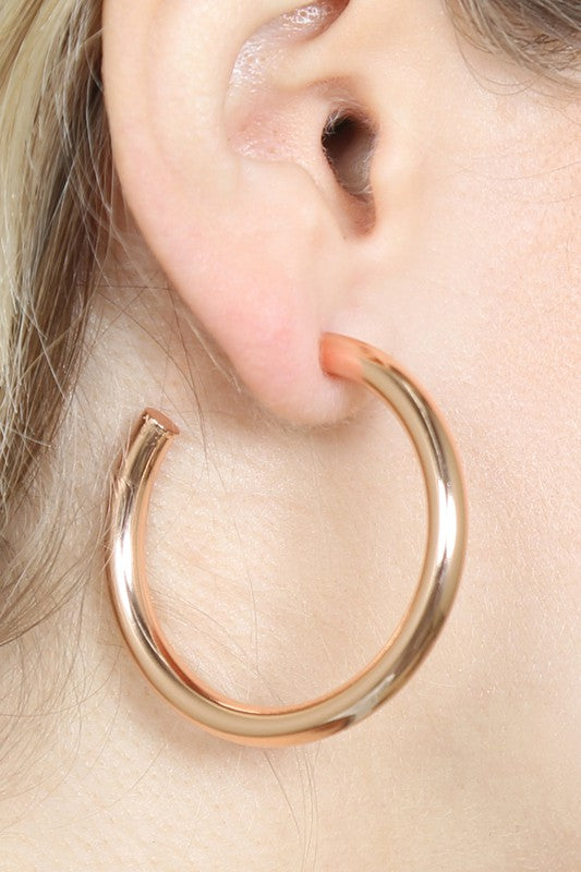 Bianca Hoop Earring - Two Finishes