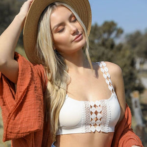 Stevie Crochet Detail Bralette - Plus Available