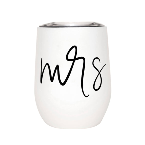 Mrs. Metal Wine Tumbler