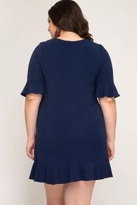 Jordan Front Tie Dress - Plus Size
