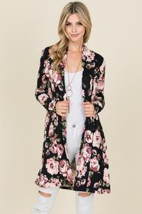 Trista Long Sleeve Floral Cardigan