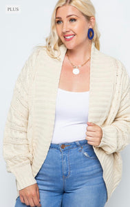 Brielle Cable Knit Cardigan - Plus