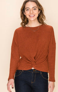 Sydney Ribbed Knot Top - More Colors