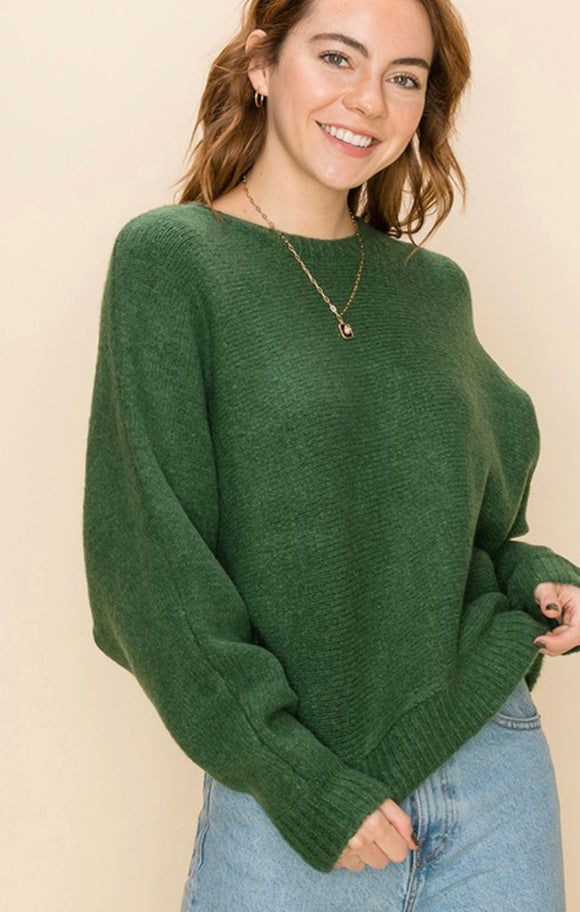 Adrian Dolman Sleeve Sweater - More Colors