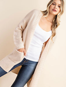 Arden Braided Sleeve Cardigan - More Colors