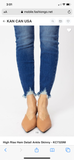 West Super High Rise Frayed Hem Ankle Jean -Plus Available - KanCan