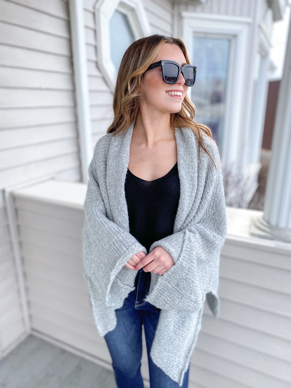 Shayla Slouchy Open Front Sweater