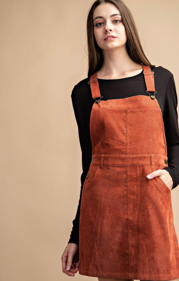 Sabrina Corduroy Overall Dress