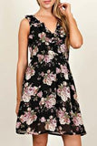 Rachel Floral Knee Length Dress - Other Colors Available