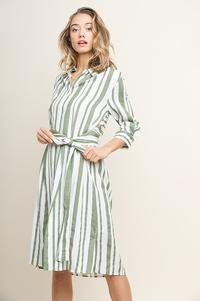 Ginger Button Up Midi Dress