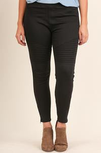 Plus Size Moto Jeggings - Other Colors Available
