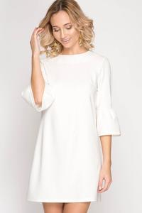Anne Bell Sleeve Shift Dress