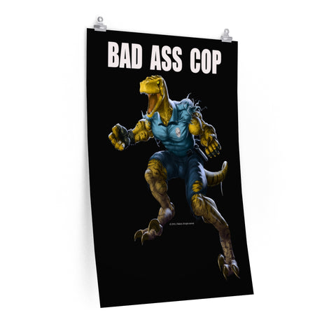 Bad Ass Cop Poster - RaptorCop