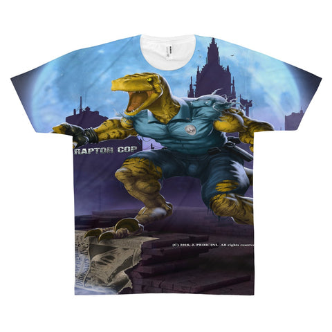 Raptor Cop Unisex AOP Sublimation Tee - RaptorCop