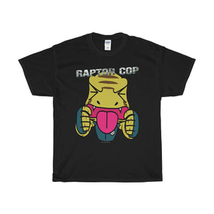 Raptor Cop Text Sticker Unisex Heavy Cotton Tee - RaptorCop