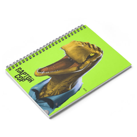 Raptor Cop Spiral Notebook - Ruled Line - RaptorCop