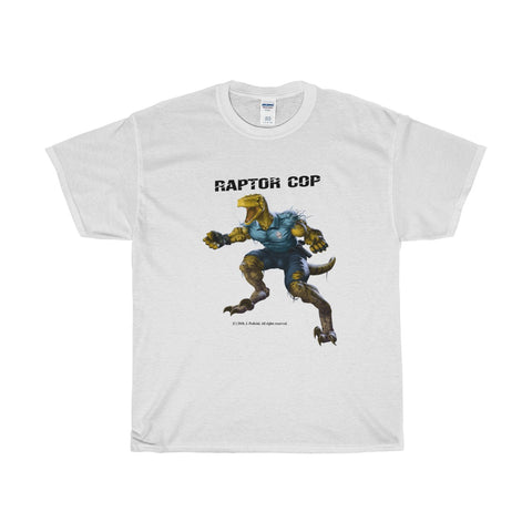 Raptor Cop  (White) Unisex Heavy Cotton Tee - RaptorCop