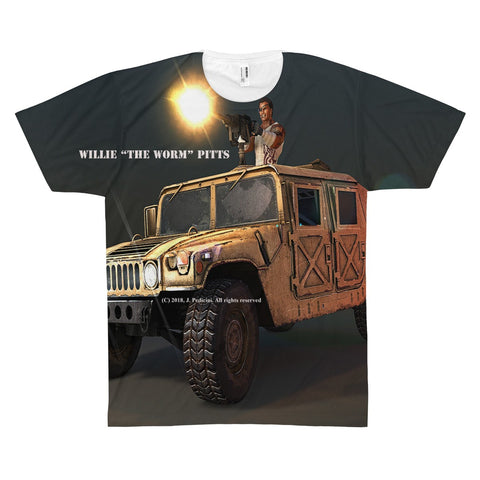 "Willie ""The Worm"" Pitts Unisex AOP Sublimation Tee - RaptorCop"