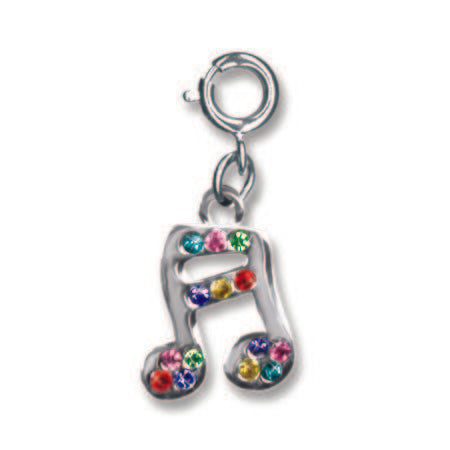 Rainbow Music Note Charm