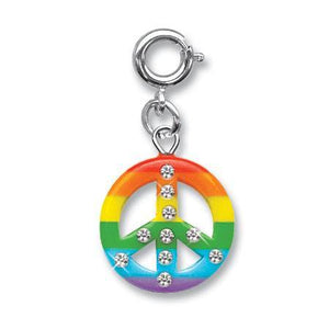 Rainbow Peace Sign Charm