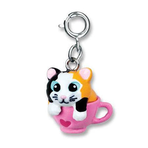 Kitten in a Cup Charm