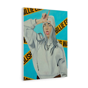 """WARNING! BILLIE EILISH"" CANVAS PRINT"