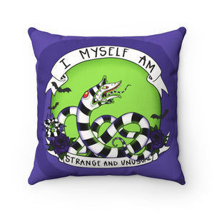 """I MYSELF AM STRANGE AND UNUSUAL"" DECOR PILLOW"