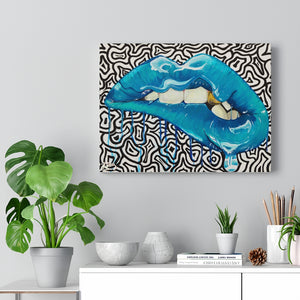 """DRIP LIPS"" CANVAS PRINT"