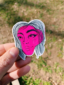 """BILLIE EYELASH"" STICKER"
